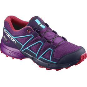 """Salomon Junior Speedcross CSWP Shoes Grape Juice/Evening Blue/Blue Bird"""